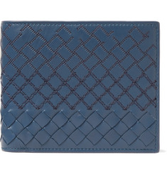 Bottega Veneta Embroidered Intrecciato Leather Billfold Wallet