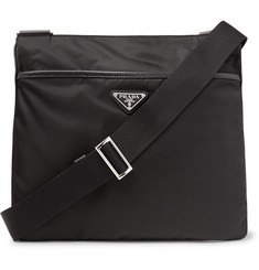 Prada - Saffiano Leather-Trimmed Nylon Messenger Bag
