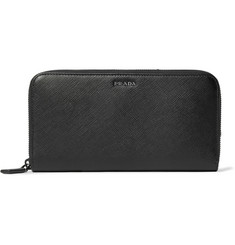 Prada - Saffiano Leather Zip-Around Wallet