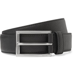 Prada 3cm Black Saffiano Leather Belt
