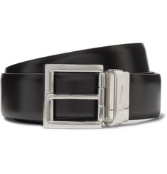 Prada - 3.5cm Black and Brown Reversible Leather Belt