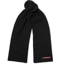Prada - Ribbed Virgin Wool Scarf