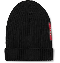 Prada - Ribbed Virgin Wool Beanie