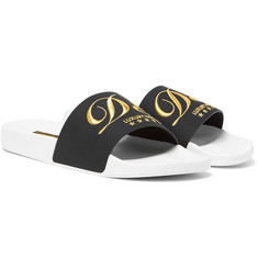 Dolce & Gabbana Embroidered Rubber Slides
