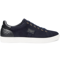 Dolce & Gabbana London Leather-Panelled Suede Sneakers