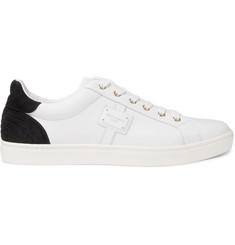 Dolce & Gabbana London Suede-Panelled Leather Sneakers