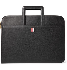 Thom Browne Pebble-Grain Leather Porfolio
