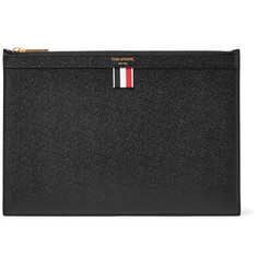 Thom Browne Small Pebble-Grain Leather Pouch