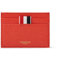 Thom Browne Penguin-Embroidered Pebble-Grain Leather Cardholder