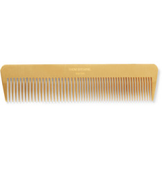 Thom Browne Gold-Tone Comb with Pebble-Grain Leather Case