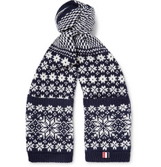 Thom Browne - Fair Isle Wool and Mohair-Blend Scarf