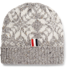 Thom Browne - Fair Isle Wool and Mohair-Blend Beanie