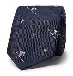 Thom Browne - 6cm Skier-Patterned Silk-Jacquard Tie