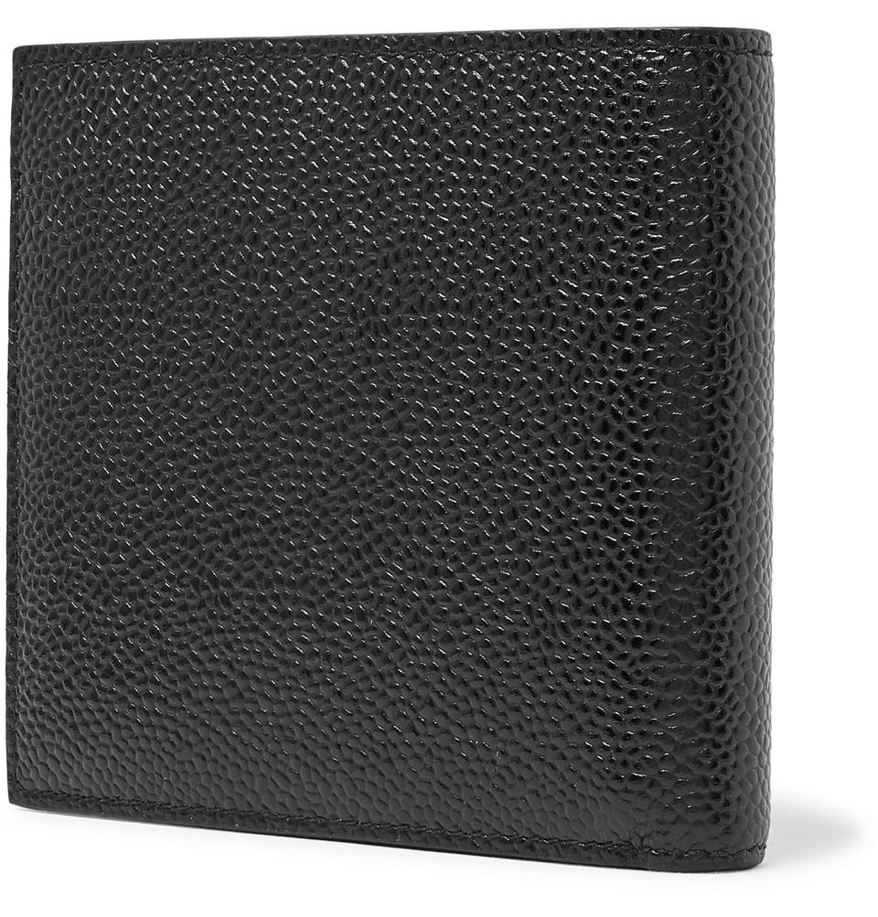 Thom Browne Pebble-Grain Leather Billfold Wallet