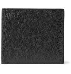 Pebble-grain Leather Billfold Wallet - Black