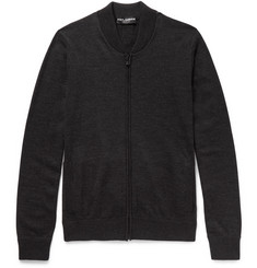 Dolce & Gabbana Wool Zip-Up Sweatshirt