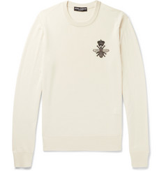 Dolce & Gabbana Zardozi-Appliquéd Virgin Wool Sweater