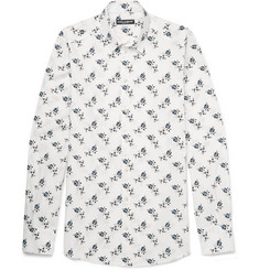 Dolce & Gabbana Slim-Fit Floral-Print Cotton-Poplin Shirt