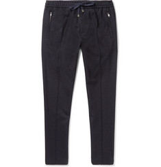 Dolce & Gabbana Slim-Fit Tapered Stretch Wool and Cotton-Blend Drawstring Trousers