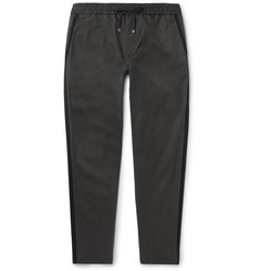 Dolce & Gabbana Tapered Stretch-Cotton Drawstring Trousers