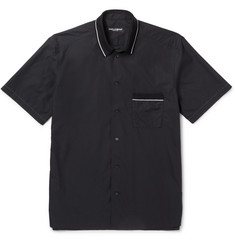 Dolce & Gabbana Contrast-Tipped Cotton and Silk-Blend Shirt