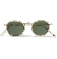 Cubitts Gifford Round-Frame Acetate and Silver-Tone Sunglasses