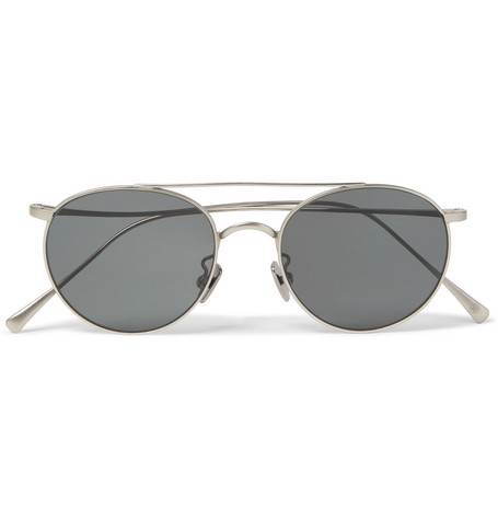 77720ce869 Cubitts Bemerton Round-Frame Silver-Tone Sunglasses