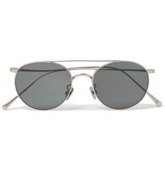 Cubitts Bemerton Round-Frame Silver-Tone Sunglasses