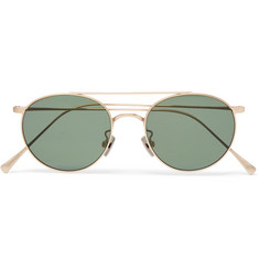Cubitts Bemerton Round-Frame Gold-Tone Sunglasses