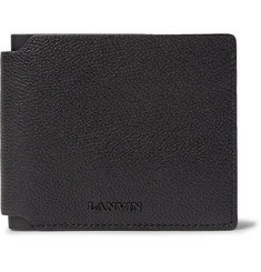 Lanvin Pebble-Grain Leather Billfold Wallet