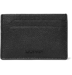 Lanvin Pebble-Grain Leather Cardholder