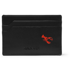 Lanvin Lobster-Printed Leather Cardholder