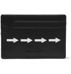 Lanvin Arrow-Printed Leather Cardholder