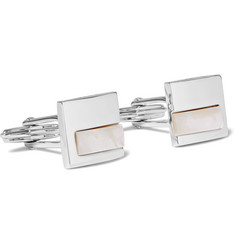Lanvin Rhodium-Plated Mother-of-Pearl Cufflinks