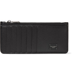 Dolce & Gabbana Pebble-Grain Leather Zipped Cardholder