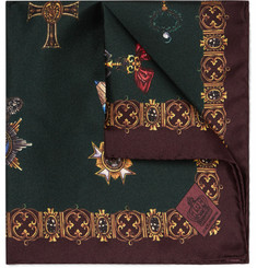Dolce & Gabbana - Printed Silk-Twill Pocket Square