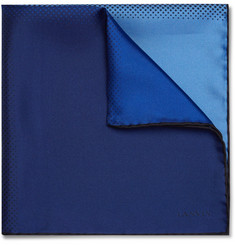 Lanvin - Polka-Dot Colour-Block Silk-Twill Pocket Square