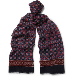 Lanvin Patterned Cashmere and Silk-Blend Scarf