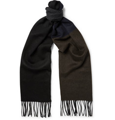 Lanvin Colour-Block Cashmere Scarf