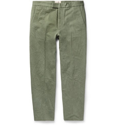 Kent & Curwen Tapered Cotton-Canvas Trousers