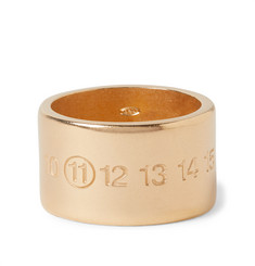 Maison Margiela Engraved Gold-Plated Ring