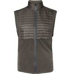 Adidas Sport - Ultra Energy Shell-Panelled Climalite Jersey Gilet