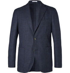 Boglioli Unstructured Textured Virgin Wool and Cotton-Blend Blazer