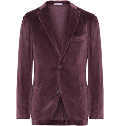 Boglioli Grape K-Jacket Unstructured Cotton-Velvet Blazer