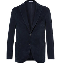Boglioli - Navy Slim-Fit Stretch-Cotton Corduroy Blazer