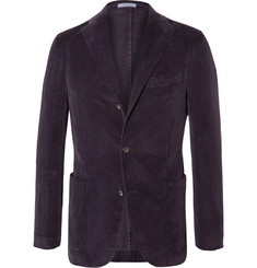 Boglioli Purple Slim-Fit Stretch-Cotton Corduroy Blazer