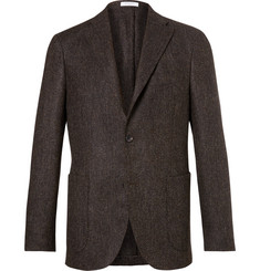 Boglioli - Brown Slim-Fit Herringbone Slub Virgin Wool Blazer