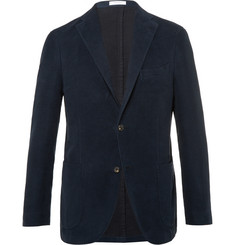 Boglioli Navy Slim-Fit Cotton-Moleskin Blazer