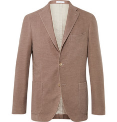 Boglioli Beige Slim-Fit Cotton-Moleskin Blazer