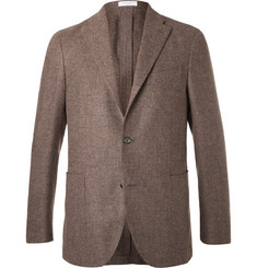Boglioli Brown Slim-Fit Wool, Cotton and Cashmere-Blend Blazer